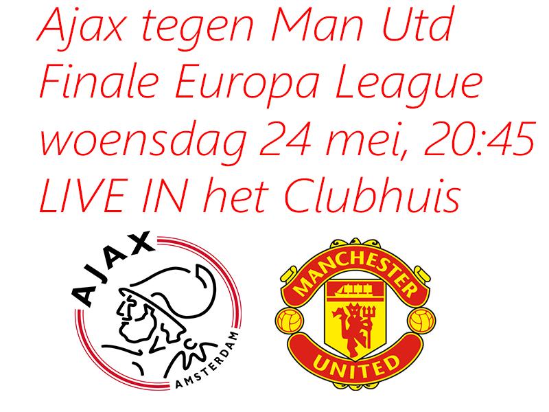 Ajax tegen Manchester United in de kantine van Zwaluwen